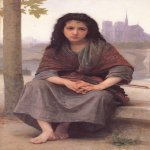 William Bouguereau (1825-1905)   Boh&amp;#233;mienne[The Bohemian]  Oil on canvas, 1890  59 x 42 inches (149.9 x 106.7 cm)  Private collection
